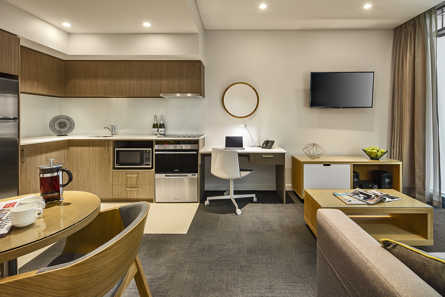 Quest Mounts Bay Road- One bedroom apartment - PERTH, Western Australia - 27th Australian Conference on Microscopy and Microanalysis